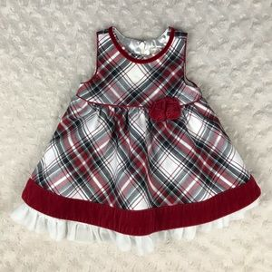 The Children's Place Red Plaid Dress 0-3 Months